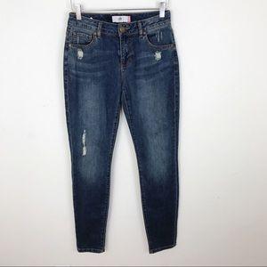 Cabi Curvy Skinny Distressed Skinny Jeans Denim 4